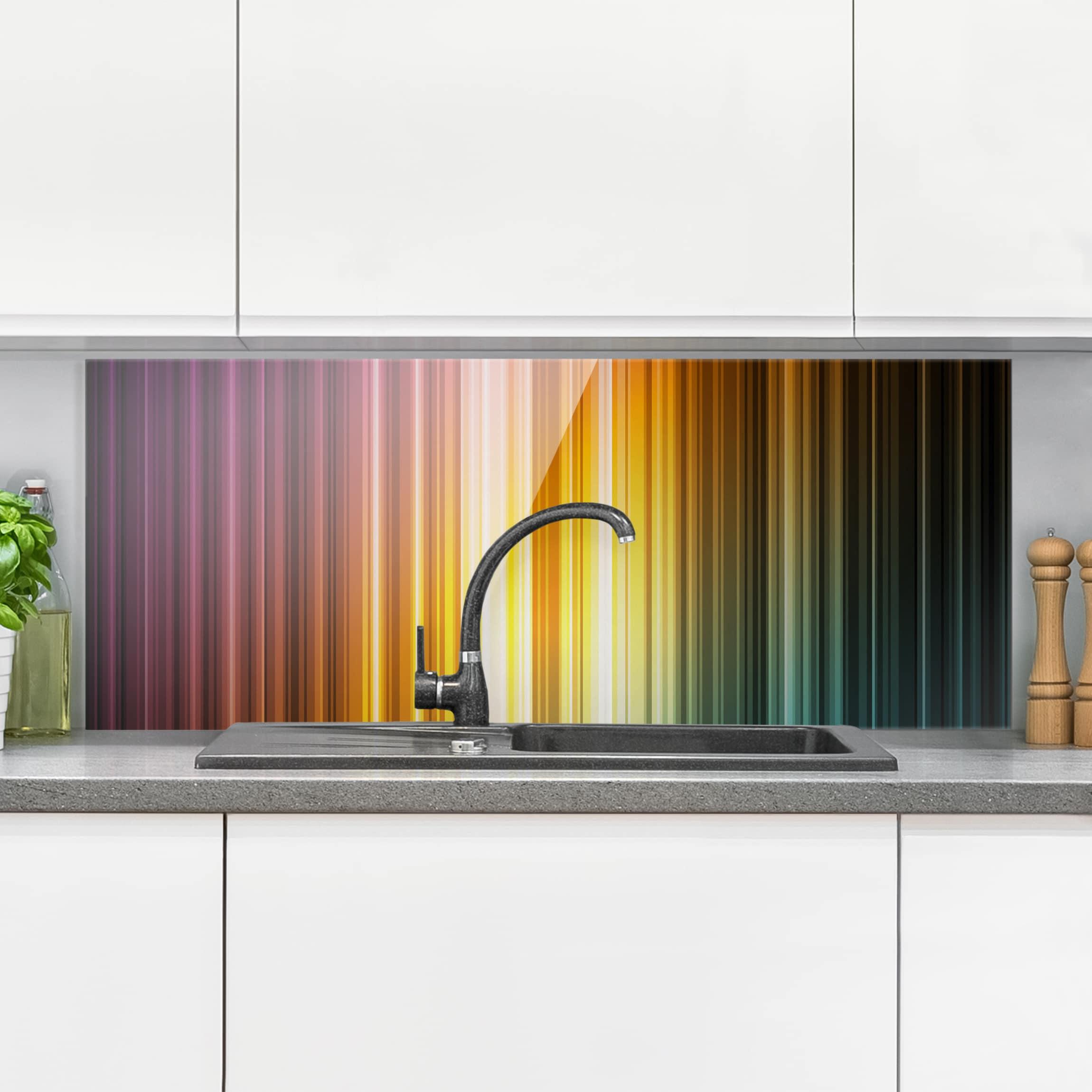 Spritzschutz glas rainbow light panorama quer for Spritzschutz glas