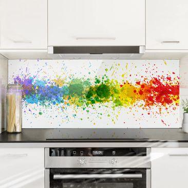 Immagine del prodotto Paraschizzi in vetro - Rainbow Splatter - Panoramico