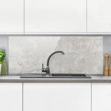 Immagine del prodotto Paraschizzi in vetro - Effetto cemento shabby - Panoramico