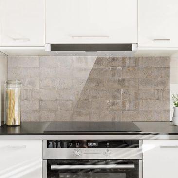 Immagine del prodotto Paraschizzi in vetro - Brick Concrete -...