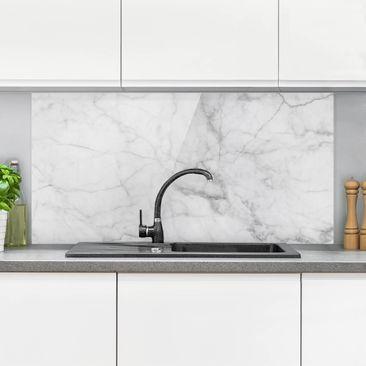 Immagine del prodotto Paraschizzi in vetro - Bianco Carrara -...