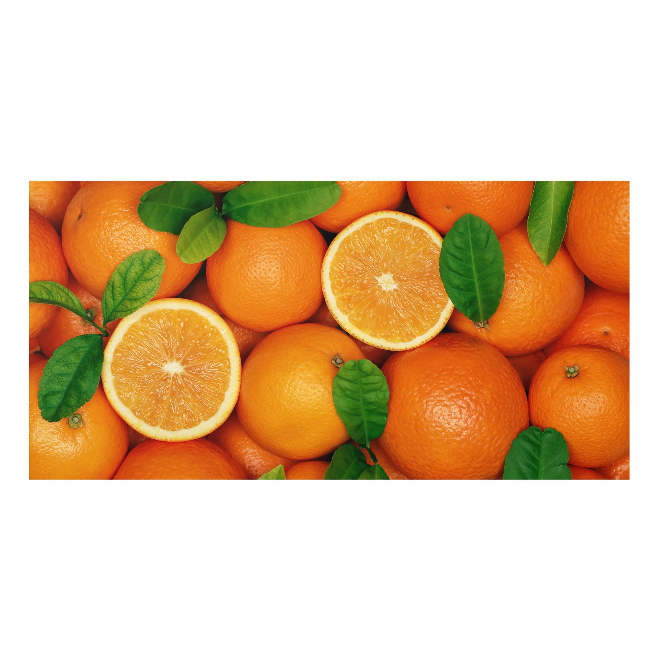 spritzschutz glas saftige orangen quer 1 2. Black Bedroom Furniture Sets. Home Design Ideas