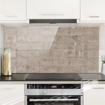 Immagine del prodotto Paraschizzi in vetro - Brick Concrete - Orizzontale 1:2