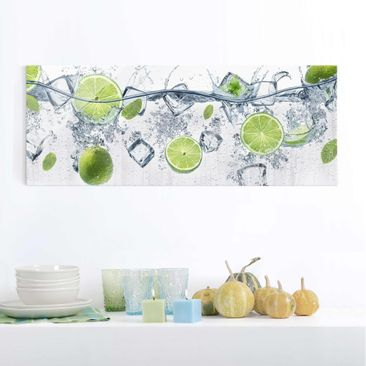 Product picture Print on Glass - Refreshing lime - Glass...