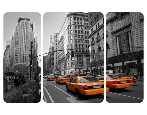 selbstklebendes wandbild new york new york triptychon i. Black Bedroom Furniture Sets. Home Design Ideas