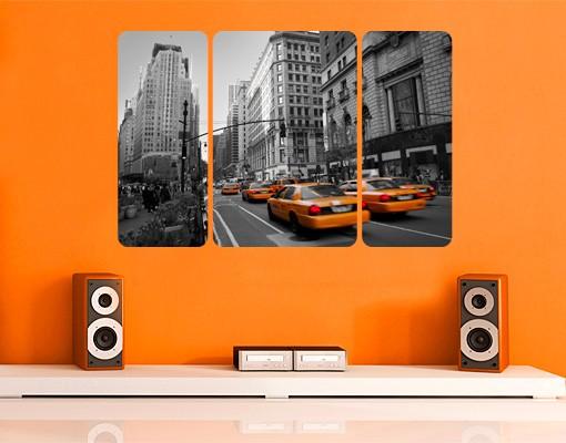 Produktfoto Selbstklebendes Wandbild New York, New York! Triptychon II