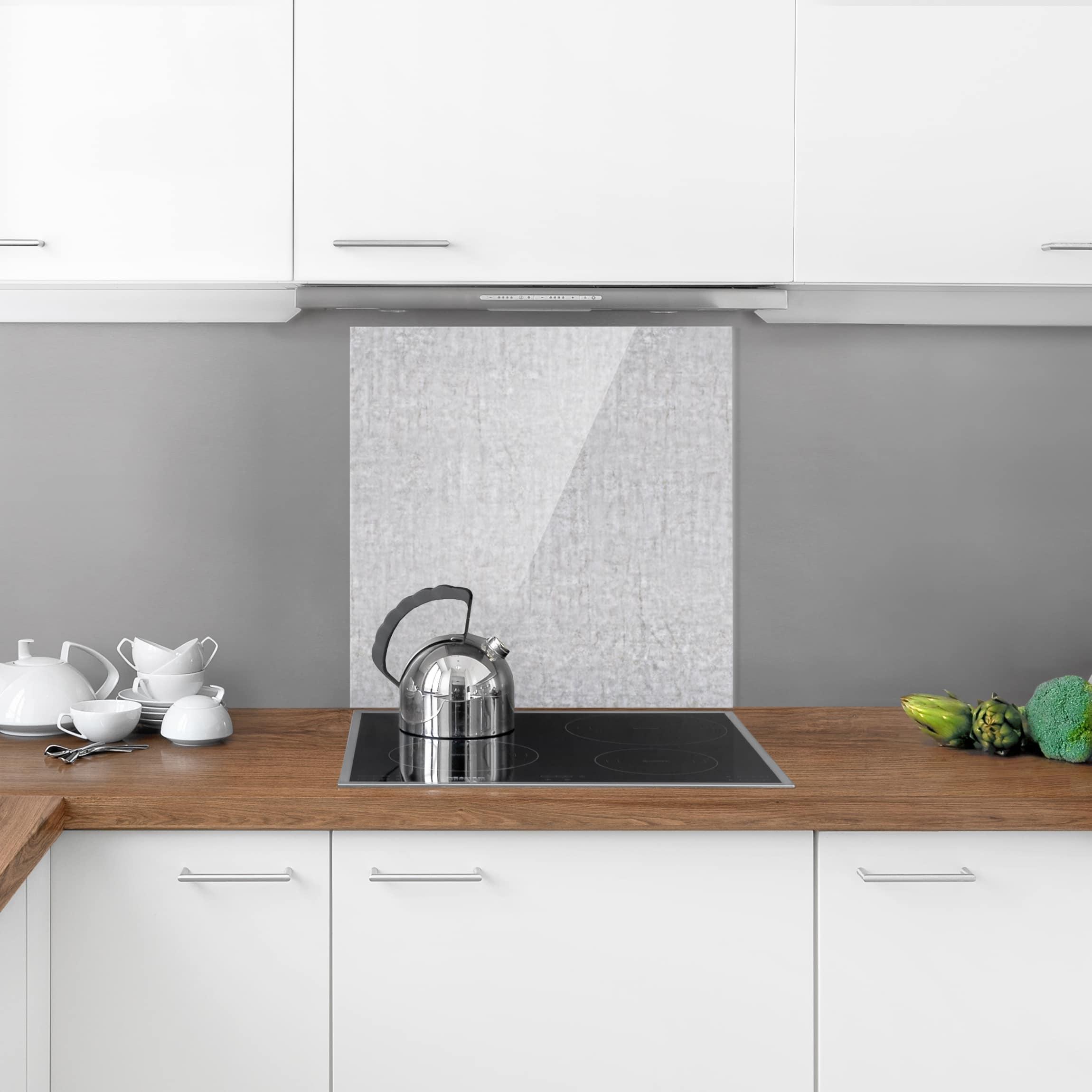spritzschutz glas beton cir quadrat 1 1. Black Bedroom Furniture Sets. Home Design Ideas