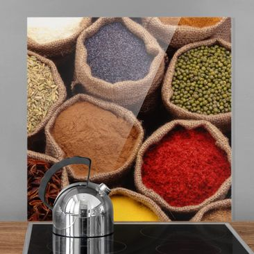 Produktfoto Spritzschutz Glas - Colourful Spices -...