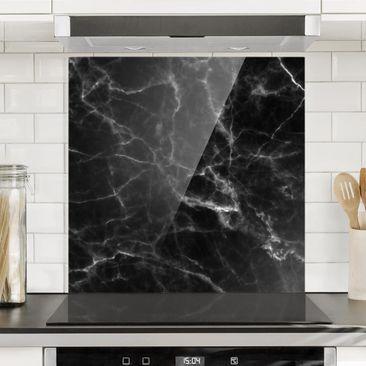 Immagine del prodotto Paraschizzi in vetro - Nero Carrara - Quadrato 1:1