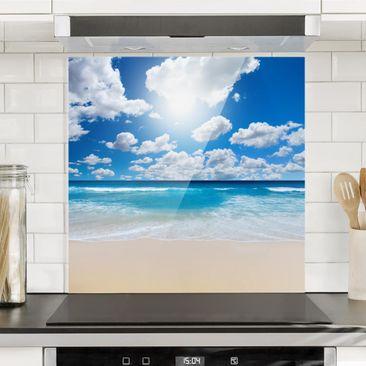 Produktfoto Spritzschutz Glas - Touch of Paradise - Quadrat 1:1