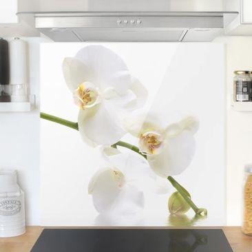 Produktfoto Spritzschutz Glas - White Orchid Waters - Quadrat 1:1