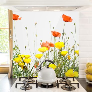 Produktfoto Spritzschutz Glas - Wild Flowers - Quadrat 1:1