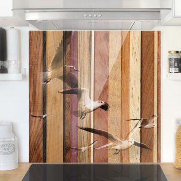 Produktfoto Spritzschutz Glas - Seemöwen - Quadrat 1:1