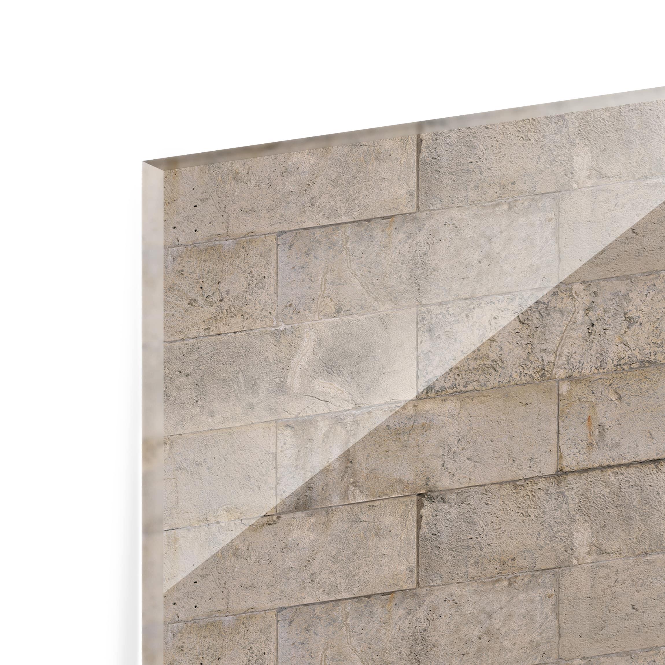 spritzschutz glas ziegel beton quer 2 3. Black Bedroom Furniture Sets. Home Design Ideas