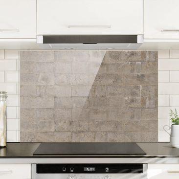 Immagine del prodotto Paraschizzi in vetro - Brick Concrete - Orizzontale 2:3