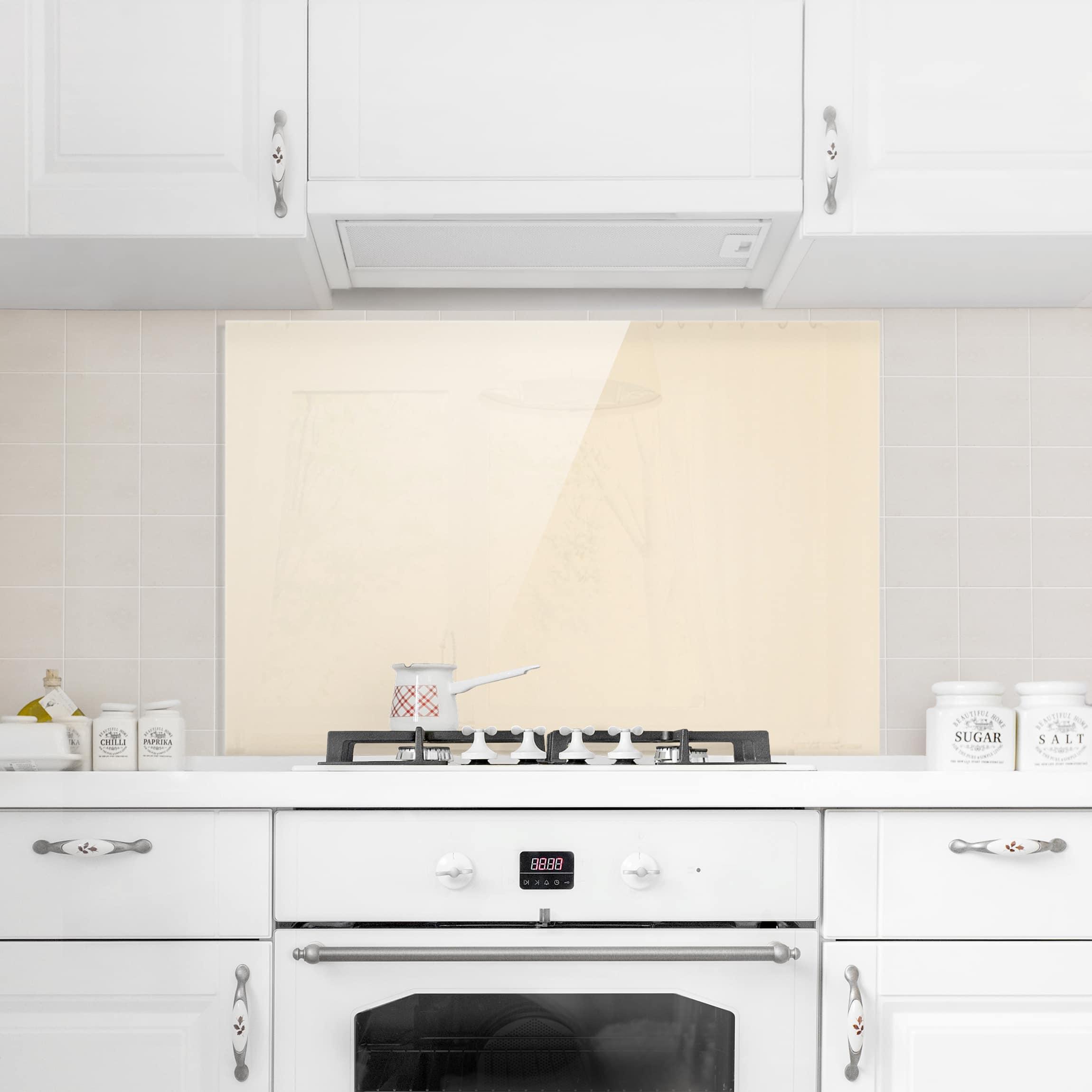 spritzschutz glas cr me quer 2 3. Black Bedroom Furniture Sets. Home Design Ideas