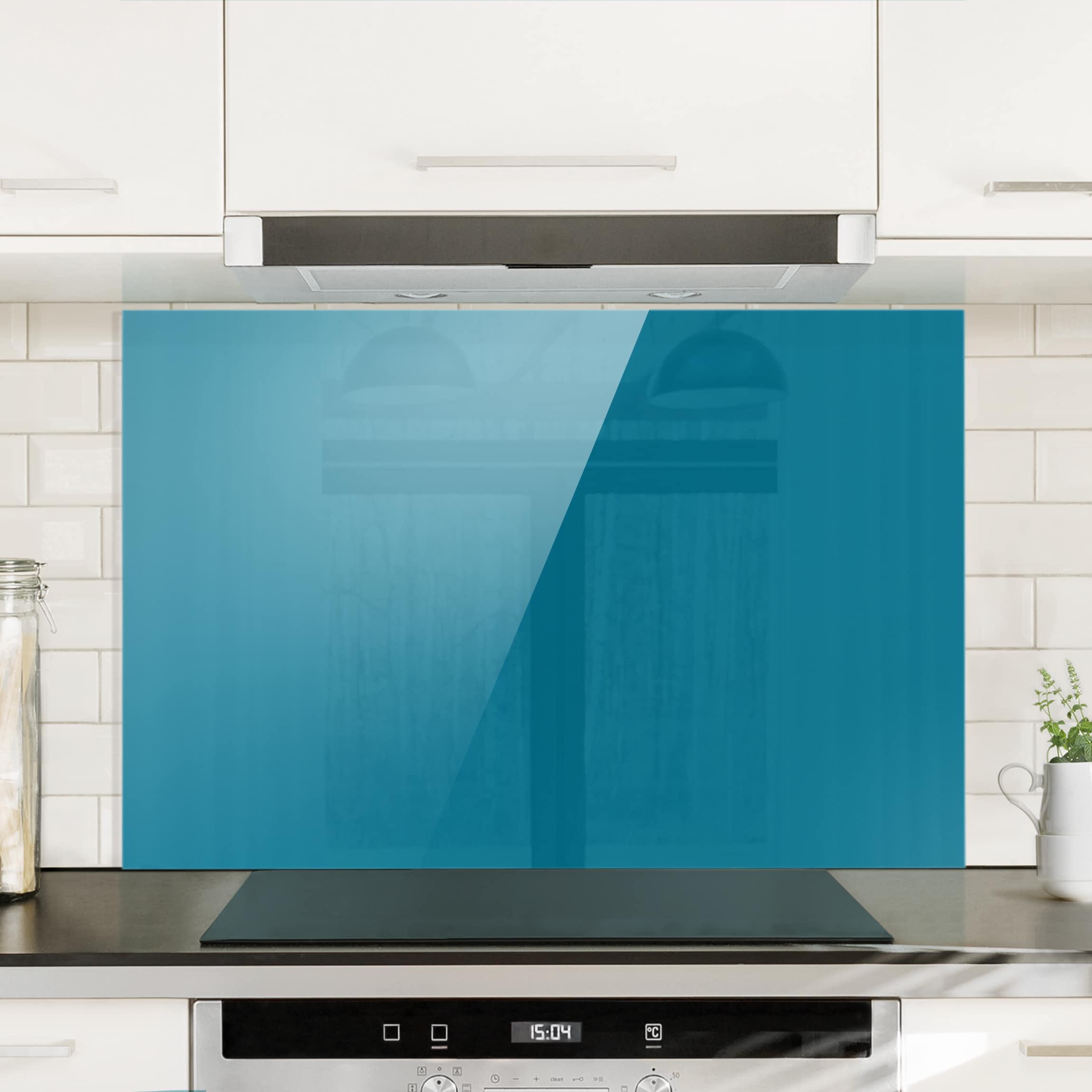 spritzschutz glas petrol quer 2 3. Black Bedroom Furniture Sets. Home Design Ideas
