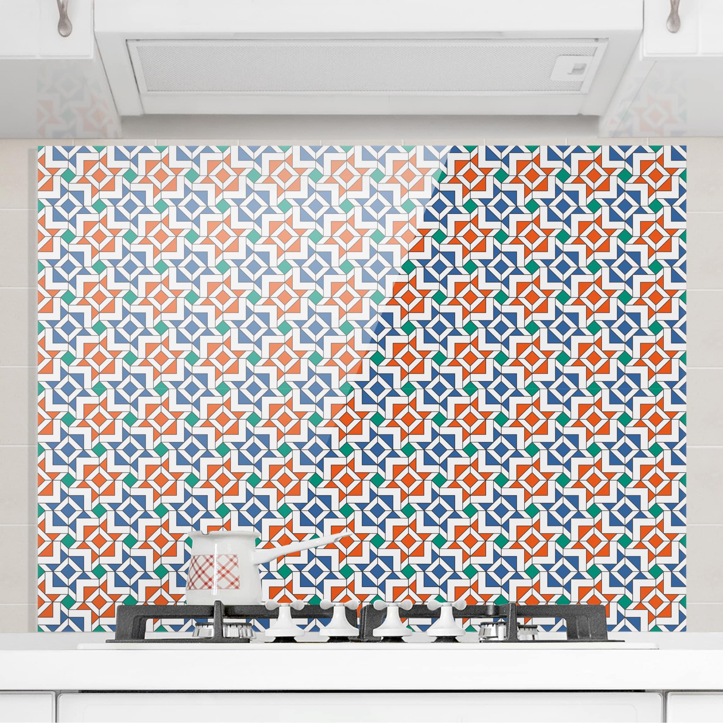 Mosaik tapete affordable tapete auf fliesen fliesen for Fliesen auf tapete kleben