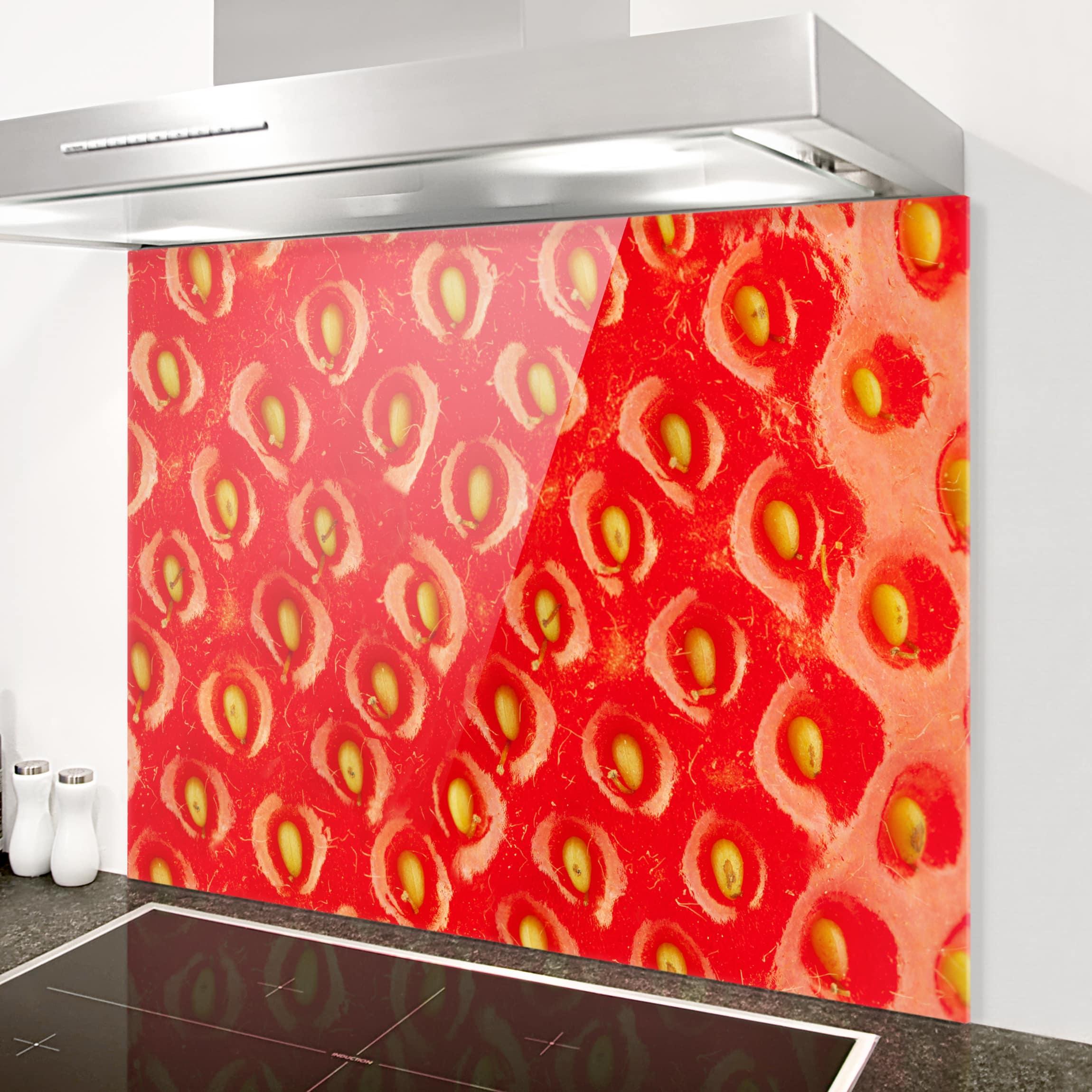 spritzschutz glas erdbeerstruktur quer 3 4. Black Bedroom Furniture Sets. Home Design Ideas