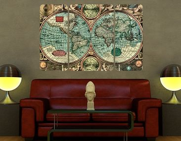 Produktfoto Wall Mural The Old World Triptychon II