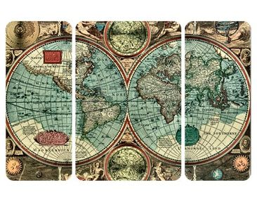 Product picture Wall Mural The Old World Triptychon II