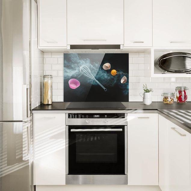 spritzschutz glas chaos in der k che quer 3 4. Black Bedroom Furniture Sets. Home Design Ideas