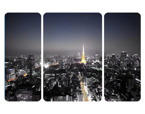 Produktfoto Selbstklebendes Wandbild Tokio Triptychon II