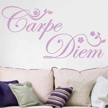 Immagine del prodotto Adesivo murale Carpe Diem floreale
