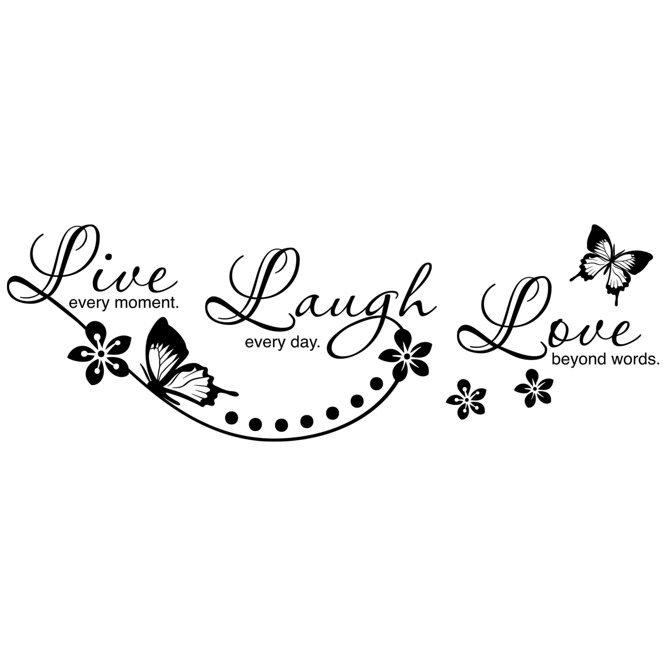sprüche love Wandtattoo Sprüche Live Laugh Love sprüche love
