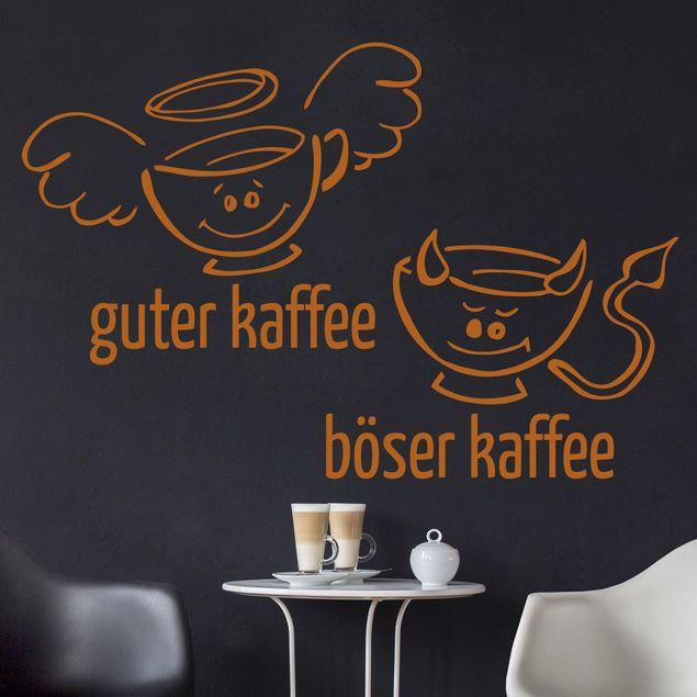 Produktfoto Wandtattoo Sprüche Guter böser Kaffee