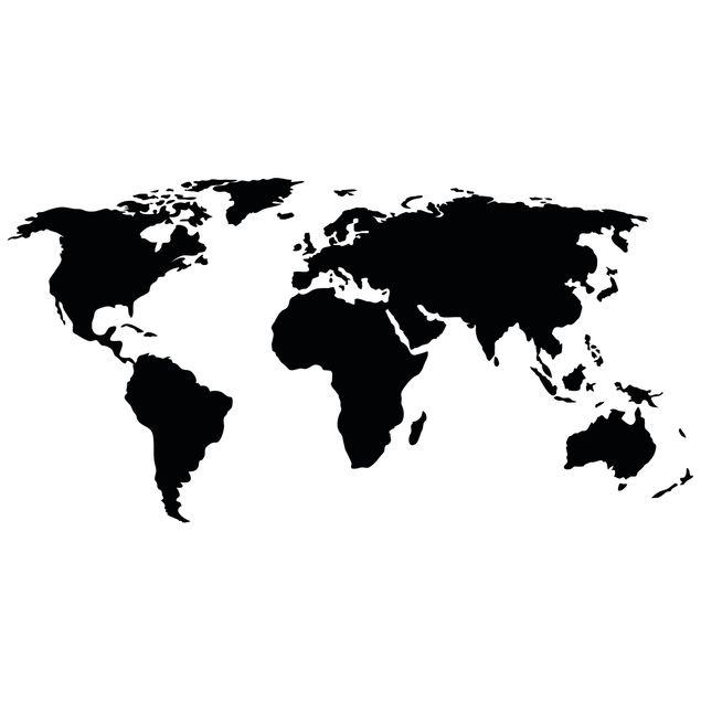 Produktfoto Wandtattoo Weltkarte
