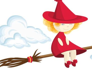 Product picture Wall Decal no.EG35 Witch
