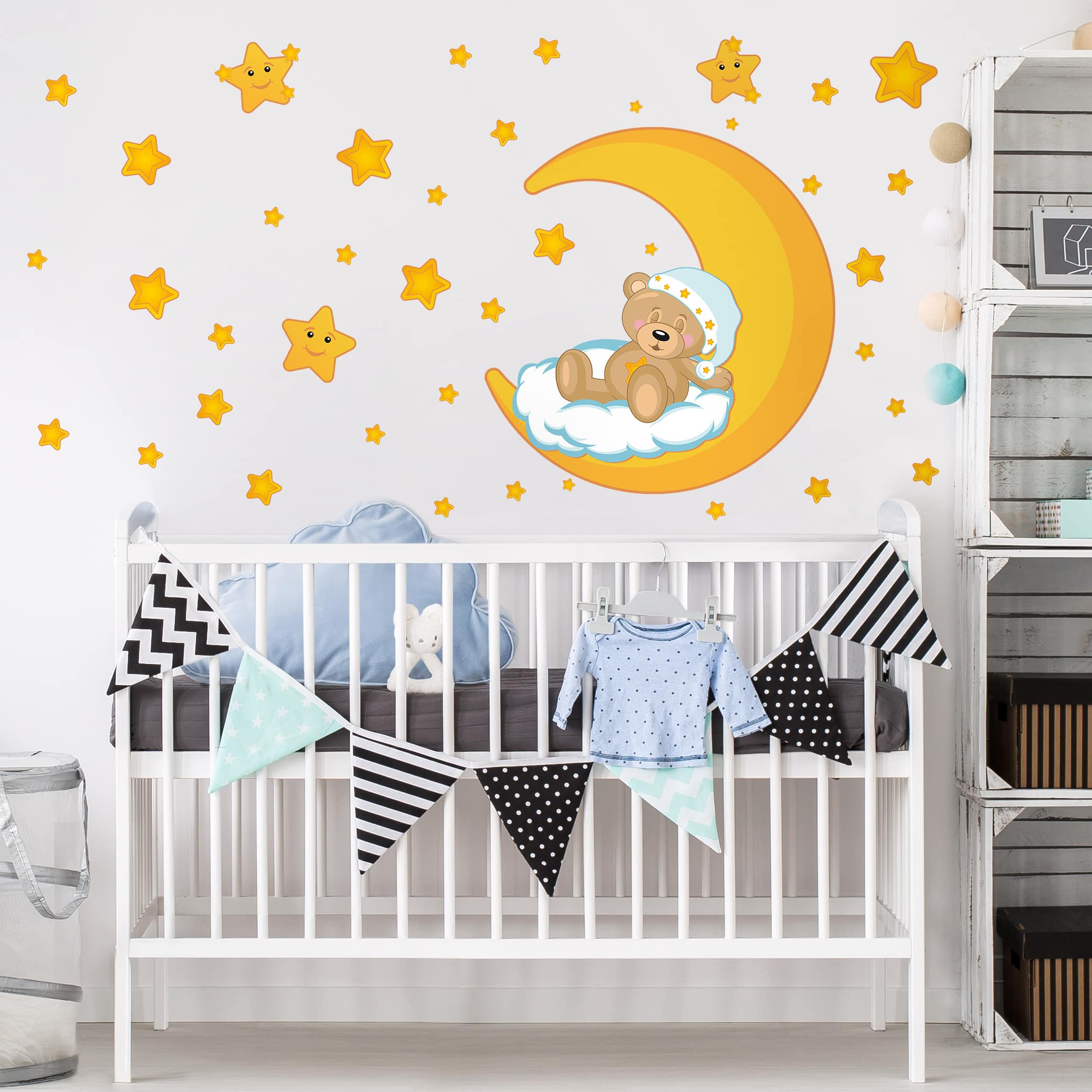 Wandtattoo kinderzimmer teddys sternenhimmel for Sternenhimmel kinderzimmer