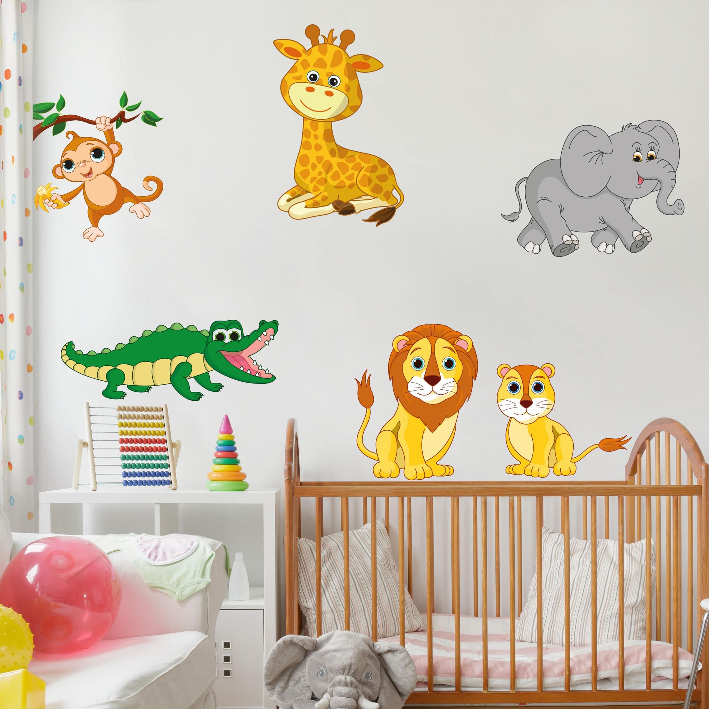 Wandtattoo safari tiere set - Kinderzimmer safari ...
