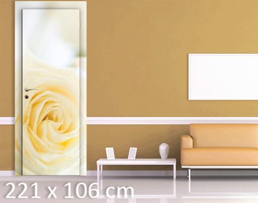 Produktfoto Türtapete Rosen selbstklebend - White Rose