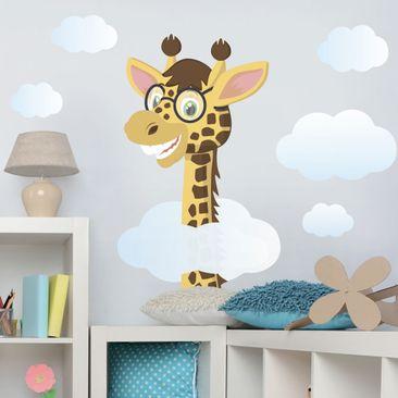Immagine del prodotto Adesivo murale giraffa divertente