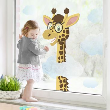 Product picture Window Sticker Funny Giraffe