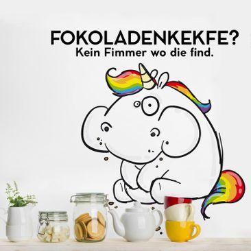 Produktfoto Wandtattoo Pummeleinhorn Fokoladenkekfe?