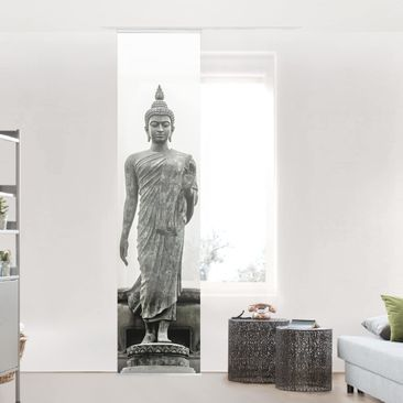 Product picture Sliding curtain set - Buddha Statue -...