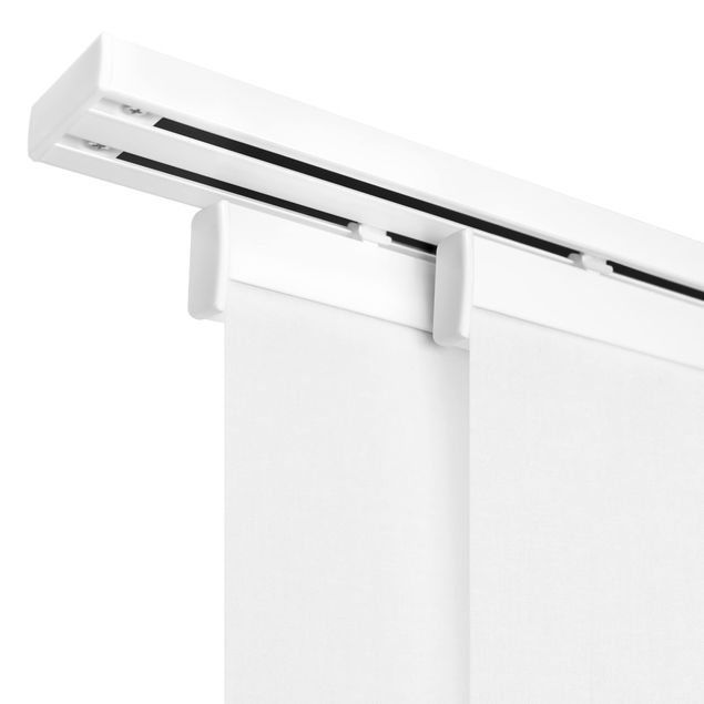 Produktfoto Schiebegardinen Set - Alte Ziegel mit Betonoptik - 2 Flächenvorhänge