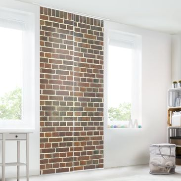 Immagine del prodotto Tende scorrevoli set - Brick Wallpaper London Maroon - 2 Pannelli