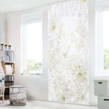 Product picture Sliding curtains set - Dahlias Sea Of...