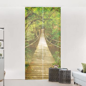 Product picture Sliding curtains set - Jungle Bridge - 2...