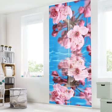 Produktfoto Schiebegardinen Set - Kirschblüte - 2 Flächenvorhänge