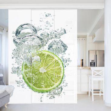 Immagine del prodotto Tende scorrevoli set - Lime Bubbles - 3 Pannelli