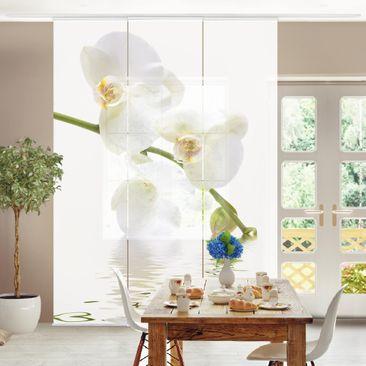 Produktfoto Schiebegardinen Set - White Orchid Waters - 3 Flächenvorhänge