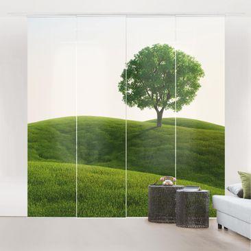 Immagine del prodotto Tende scorrevoli set - Green Peace - 4 Pannelli