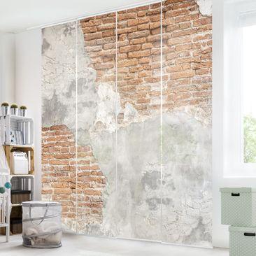 Immagine del prodotto Tende scorrevoli set - Shabby Brick Wall - 4 Pannelli