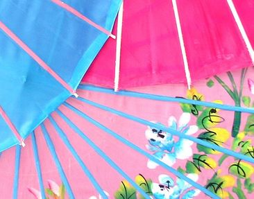 Product picture Wall Mural The Chinese Parasols Triptych