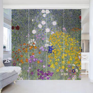 Produktfoto Schiebegardinen Set - Gustav Klimt - Bauerngarten - 4 Flächenvorhänge